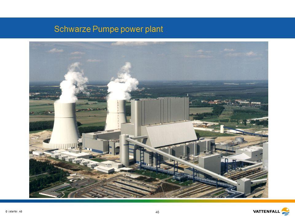 © Vattenfall AB 46 Schwarze Pumpe power plant