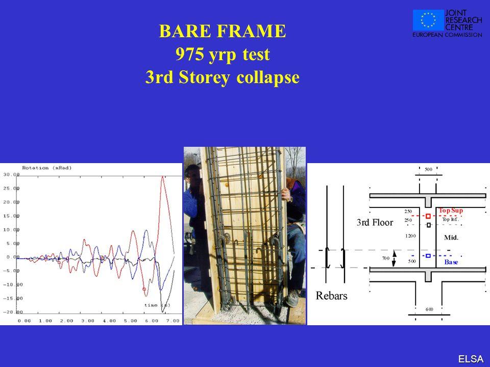 ELSA BARE FRAME 975 yrp test 3rd Storey collapse