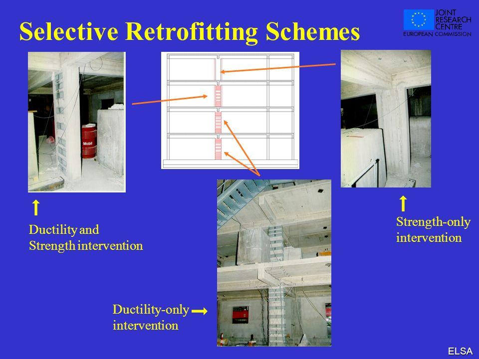 ELSA Selective Retrofitting Schemes Strength-only intervention Ductility-only intervention Ductility and Strength intervention