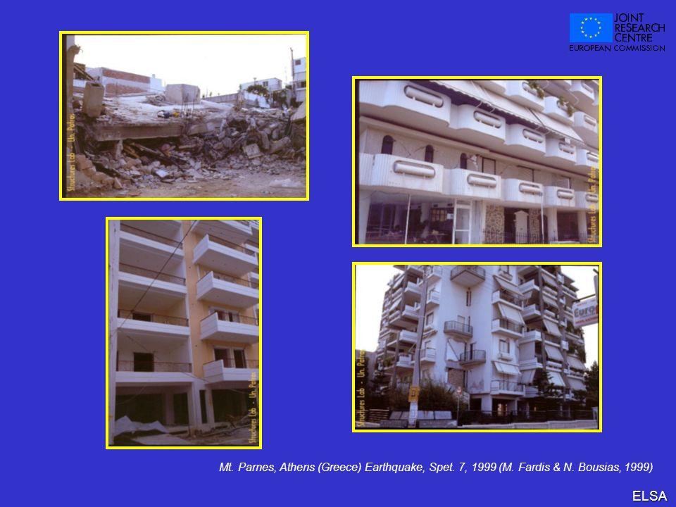 ELSA Mt. Parnes, Athens (Greece) Earthquake, Spet. 7, 1999 (M. Fardis & N. Bousias, 1999)