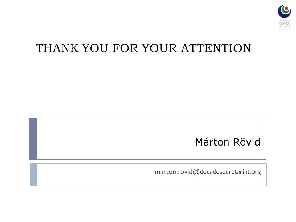 THANK YOU FOR YOUR ATTENTION marton.rovid@decadesecretariat.org Márton Rövid