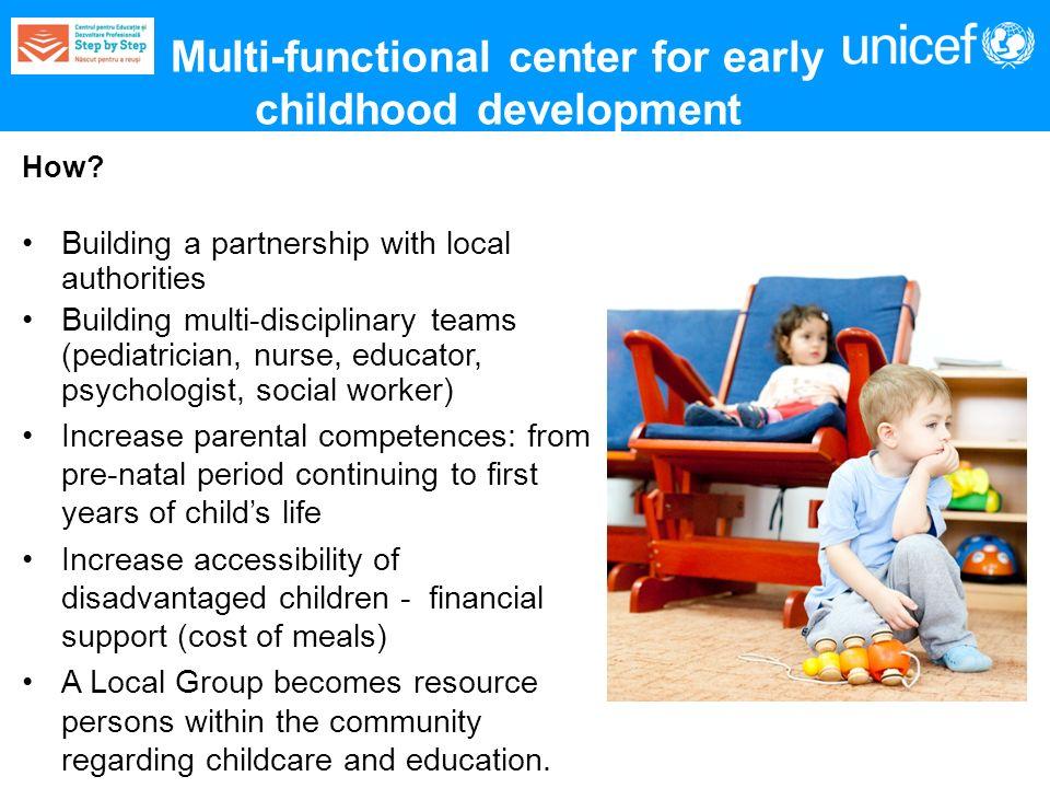 How? Building a partnership with local authorities Building multi-disciplinary teams (pediatrician, nurse, educator, psychologist, social worker) Incr