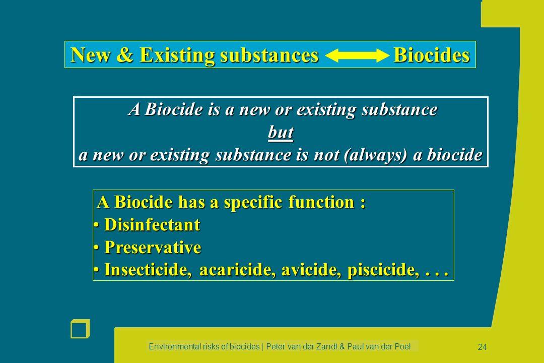 Environmental risks of biocides | Peter van der Zandt & Paul van der Poel r 23 Emission Scenario 3: Average consumption Emission = Qi * Ni * Fpc * Cs