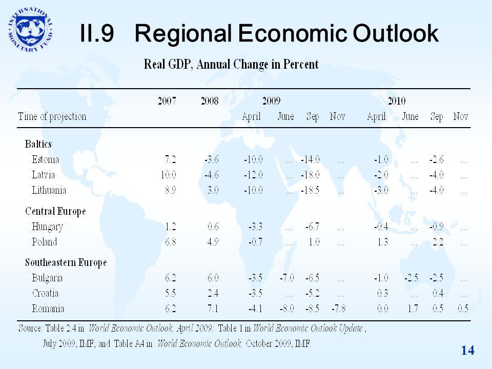 14 II.9 Regional Economic Outlook