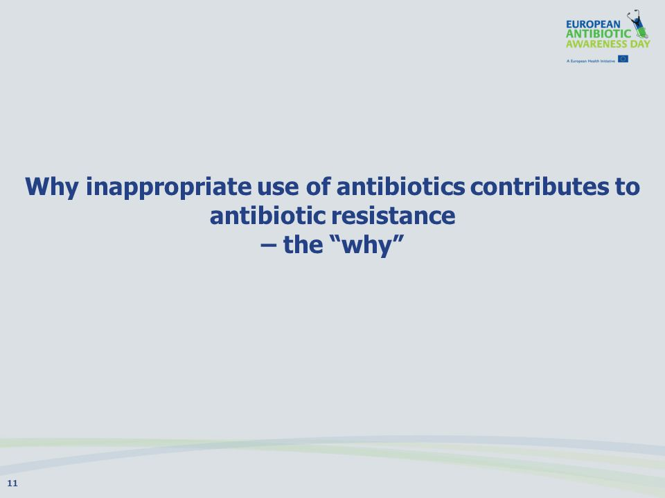 Why inappropriate use of antibiotics contributes to antibiotic resistance – the why 11