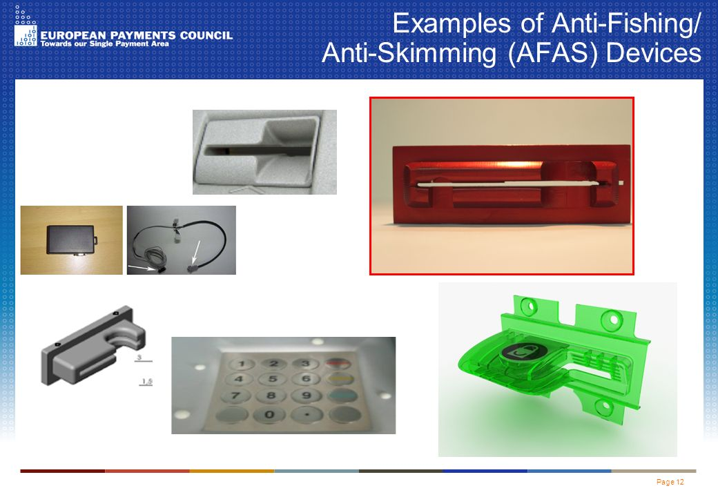 Page 12 Examples of Anti-Fishing/ Anti-Skimming (AFAS) Devices