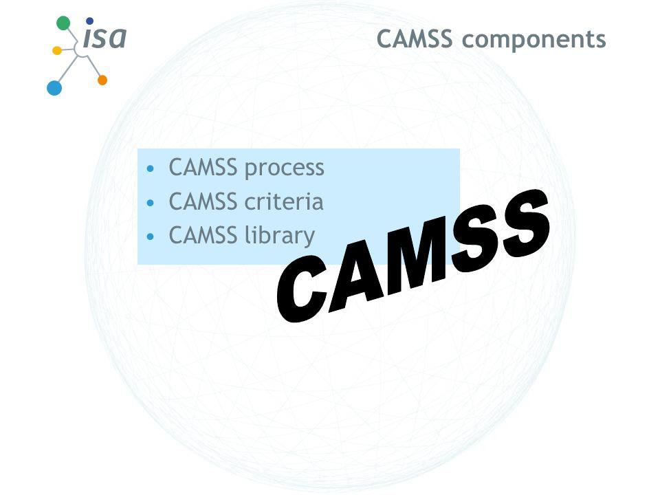 CAMSS components CAMSS process CAMSS criteria CAMSS library