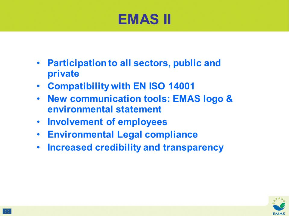 EMAS II 1 logo 2 versions