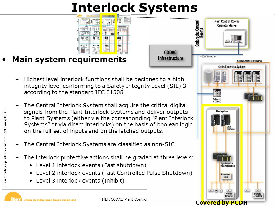 This information is private and confidential. © February 13, 2008 ITER CODAC Plant Control Design Handbook – Barcelona - 27 Oct 2008 Page 17 Interlock