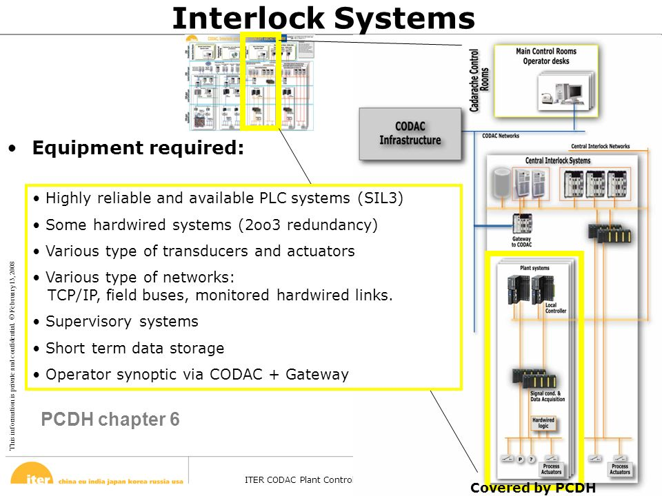 This information is private and confidential. © February 13, 2008 ITER CODAC Plant Control Design Handbook – Barcelona - 27 Oct 2008 Page 18 Interlock