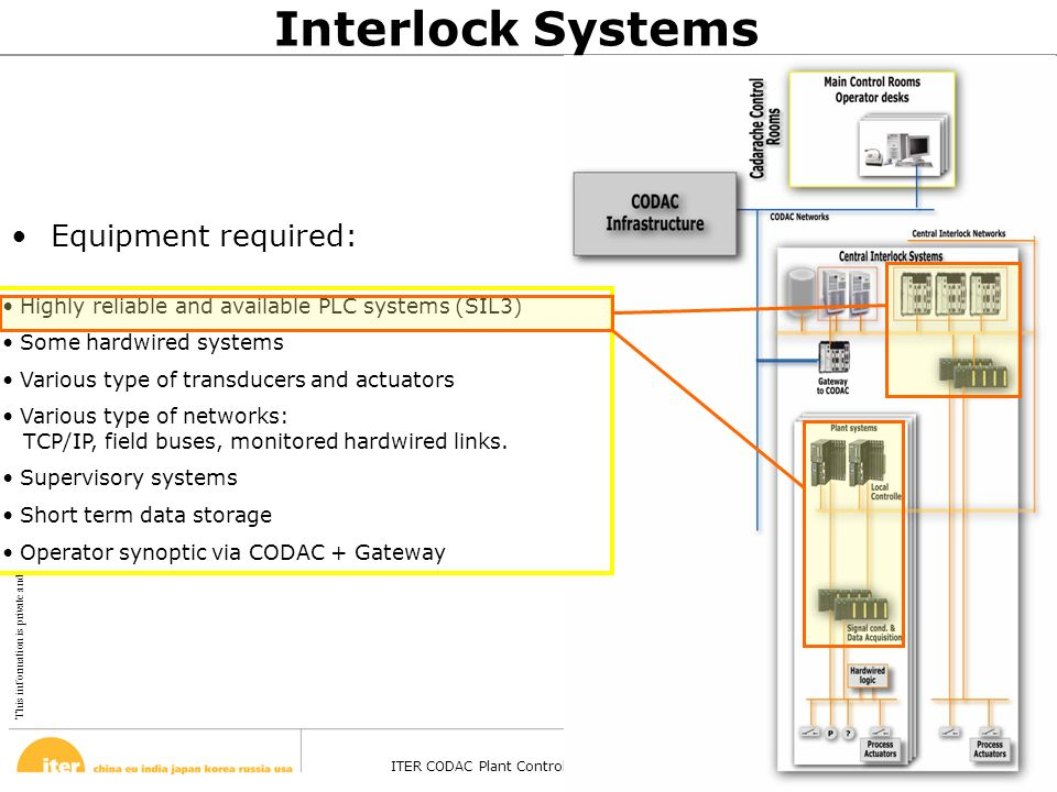 This information is private and confidential. © February 13, 2008 ITER CODAC Plant Control Design Handbook – Barcelona - 27 Oct 2008 Page 34 Highly re
