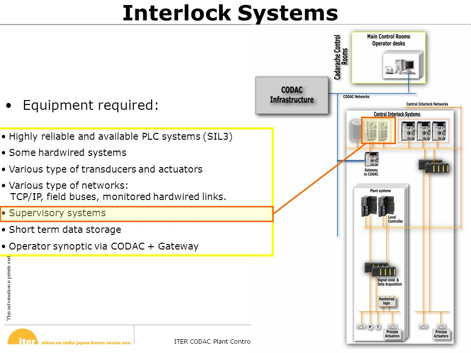 This information is private and confidential. © February 13, 2008 ITER CODAC Plant Control Design Handbook – Barcelona - 27 Oct 2008 Page 38 Highly re