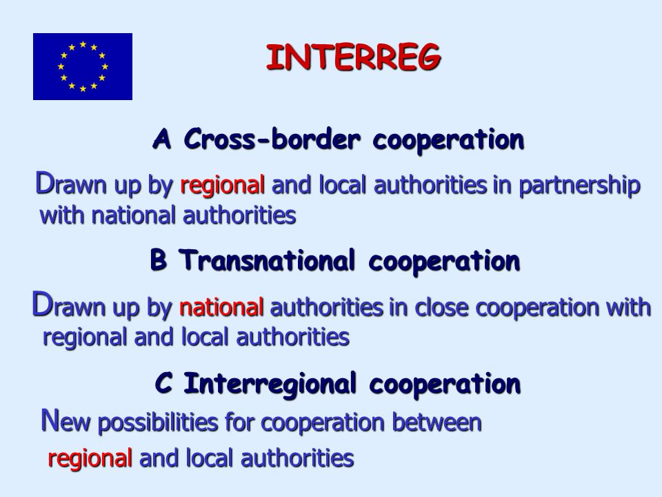 B Transnational cooperation D rawn up by national authorities in close cooperation with D rawn up by national authorities in close cooperation with re