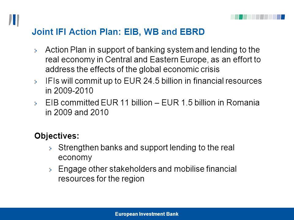 European Investment Bank Contacts http://www.eib.org/ messori@eib.org Tel: +40 (0) 21 208 64 00 Fax: +40 (0) 21 317 90 90