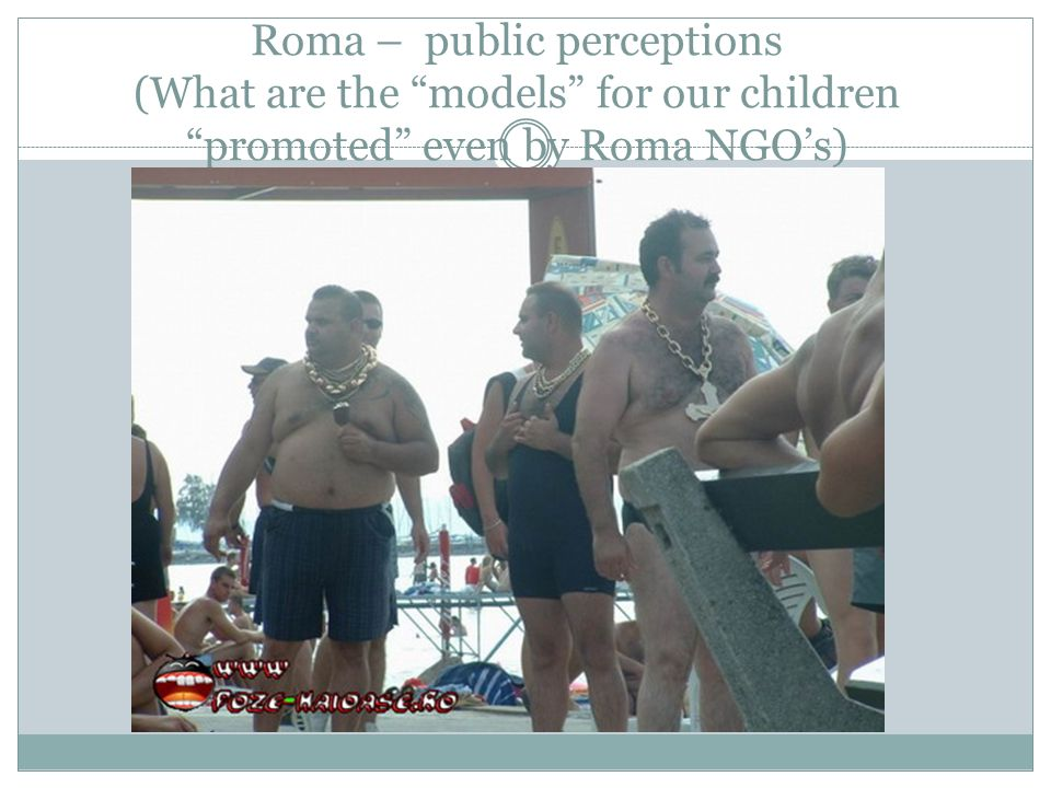 Roma – public perceptions (What are the models for our children promoted even by Roma NGOs)