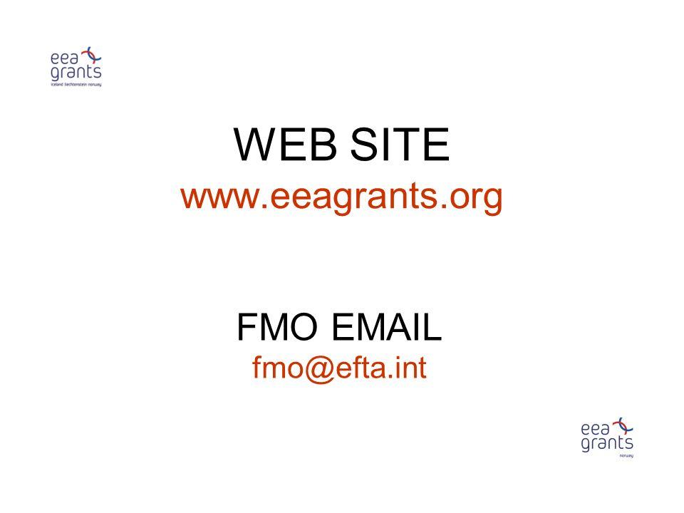 WEB SITE www.eeagrants.org FMO EMAIL fmo@efta.int