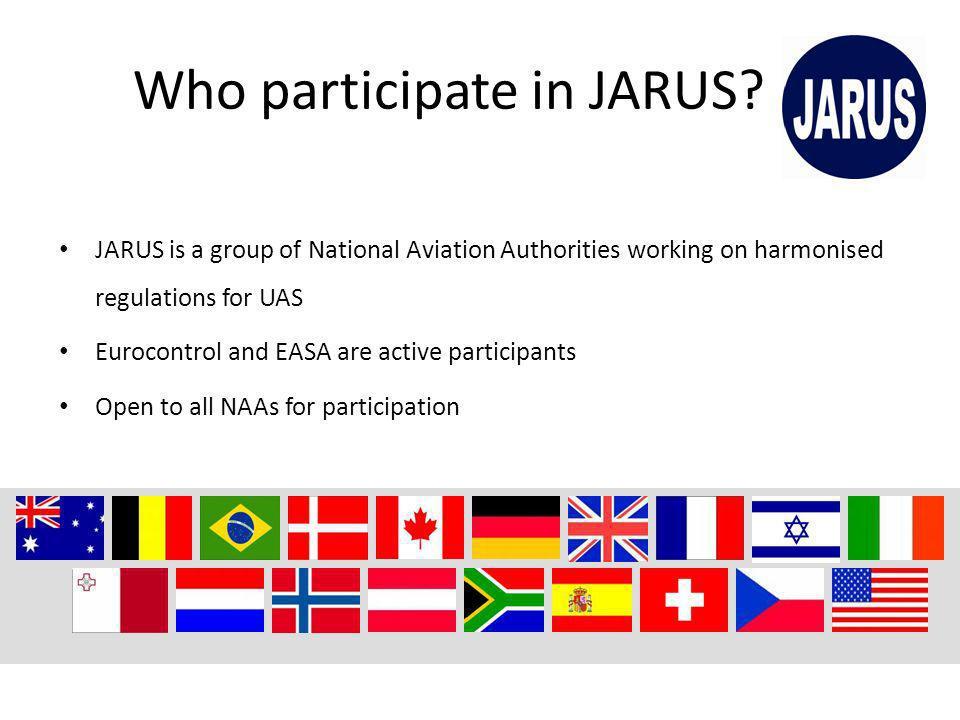 Who participate in JARUS.
