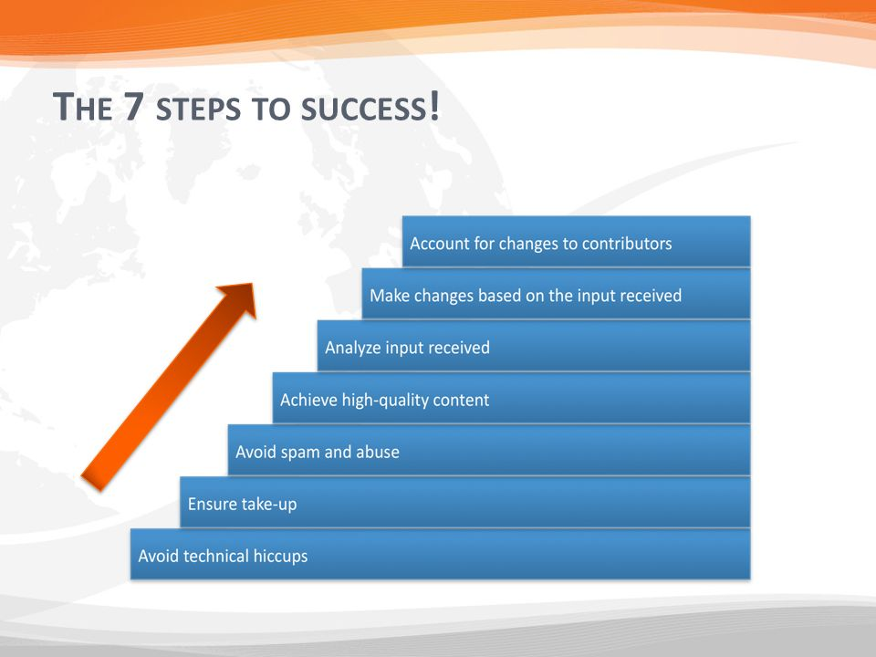 T HE 7 STEPS TO SUCCESS !