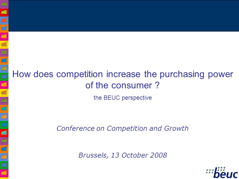 How does competition increase the purchasing power of the consumer .