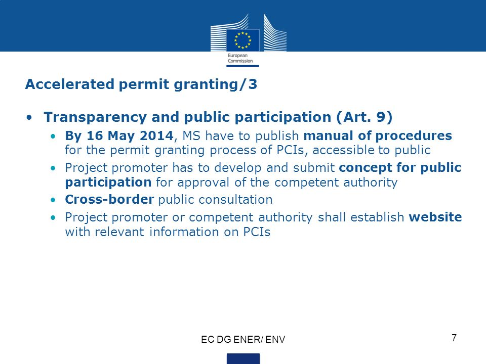 Accelerated permit granting/3 Transparency and public participation (Art.