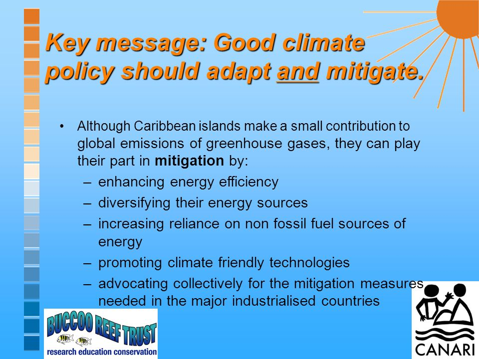 Key message: Good climate policy should adapt and mitigate.