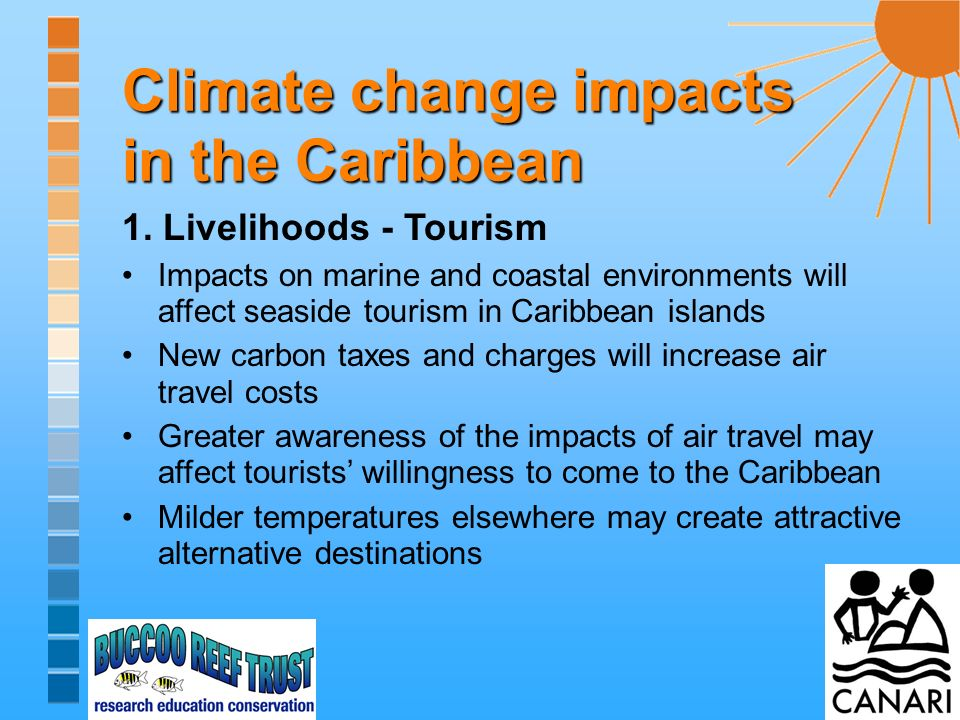 Climate change impacts in the Caribbean 2.