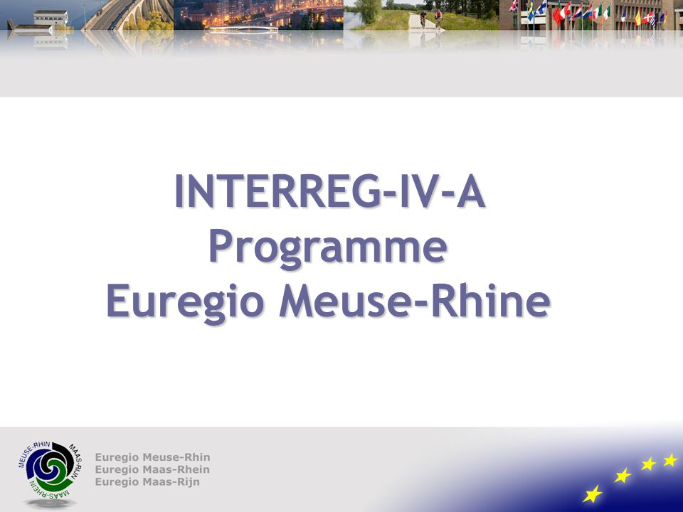INTERREG-IV-A Programme Euregio Meuse-Rhine