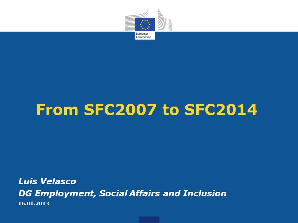 1.Introduction 2.What remains from SFC2007 3.What changes in SFC2014 4.Next Steps Agenda 2