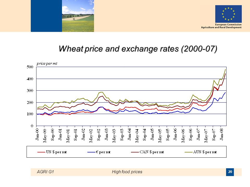 AGRI G1High food prices 20 Wheat price and exchange rates (2000-07)