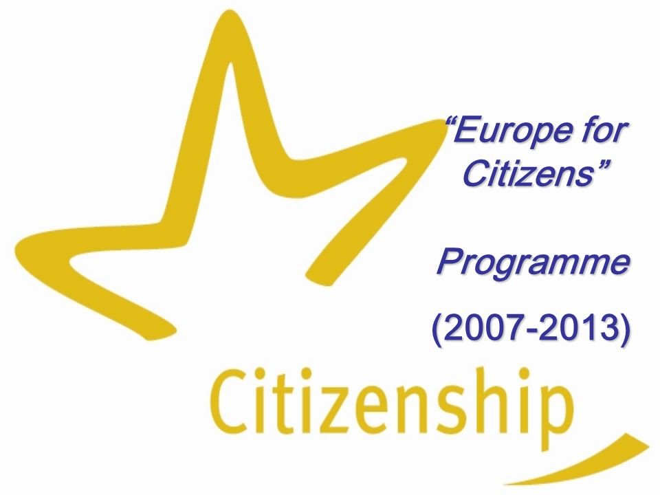 Europe for Citizens Programme (2007-2013)