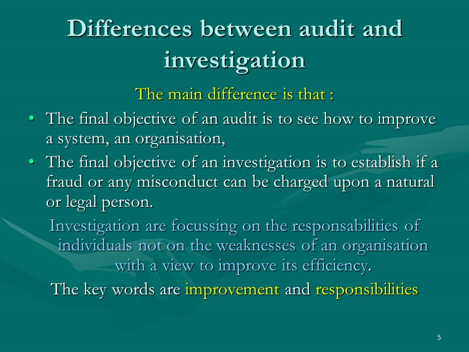How an investigator is working .