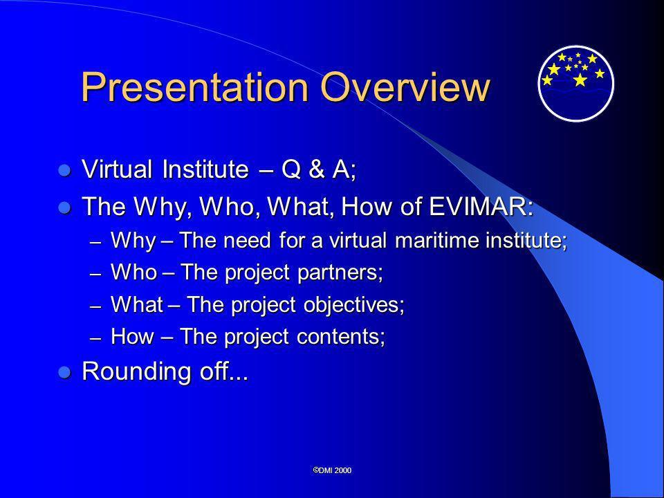 DMI 2000 What is a Virtual Institute.