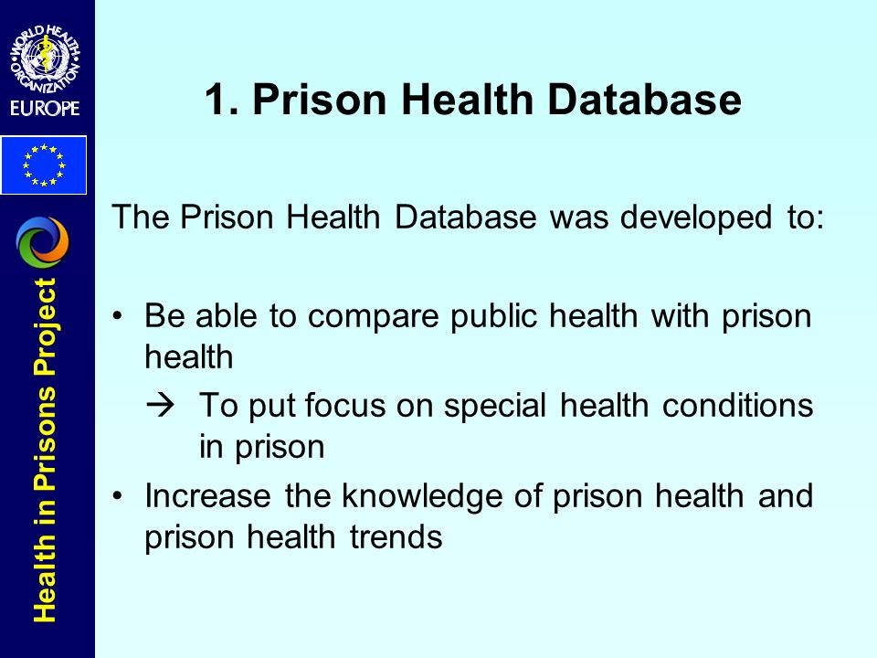 Health in Prisons Project 1.