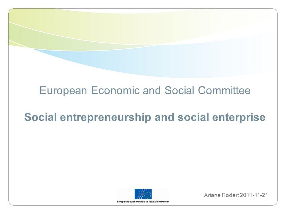 Background – why social enterprise.