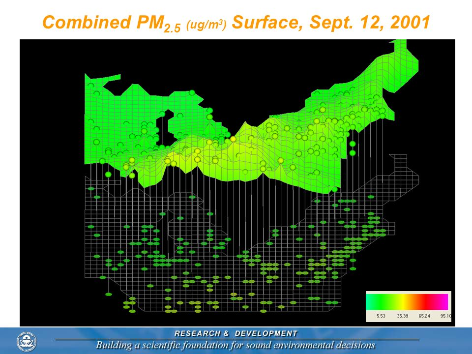 Combined PM 2.5 (ug/m 3 ) Surface, Sept. 12, 2001