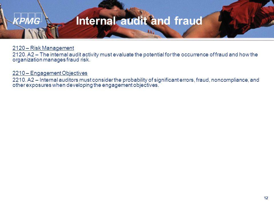 12 Internal audit and fraud 2120 – Risk Management 2120.
