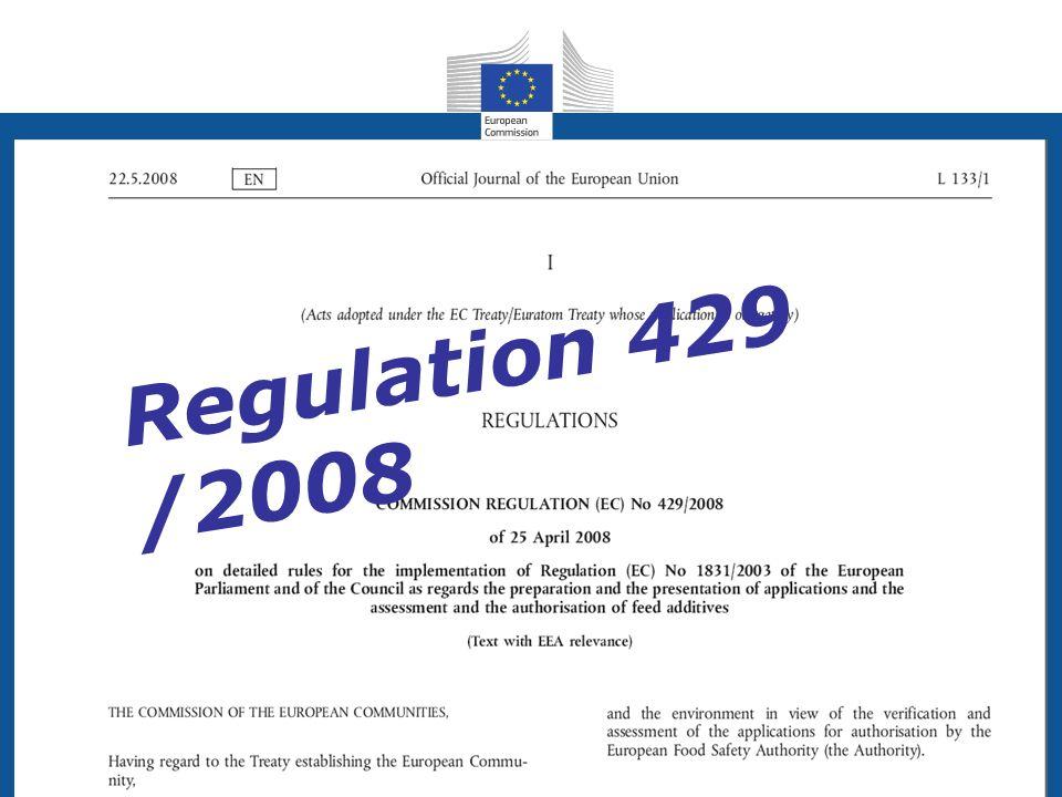 Health and Consumers Health and Consumers Regulation 429 /2008