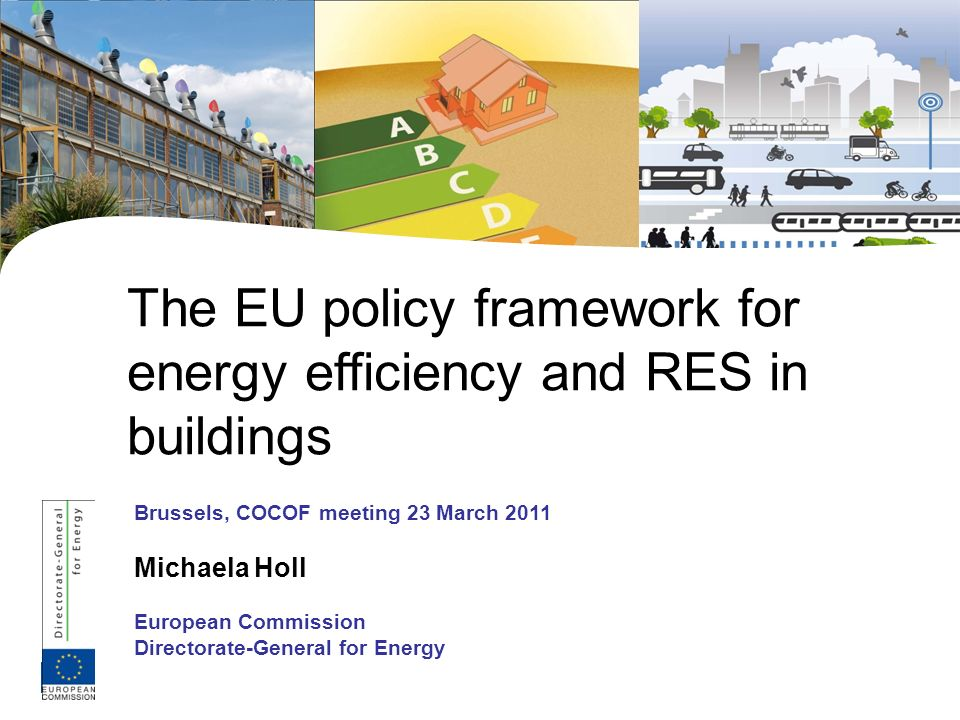 12 EPBD recast 2010/31/EU and nearly zero energy policy All new buildings in the EU by 31 December 2020 will have to be nearly zero energy buildings (before that: cost optimal requirements) Public authorities have to be nearly zero by 31 December 2018 MS have to establish a national definition based on Directive Art 2(2): a building that has a very high energy performance (…) nearly zero or very low amount of energy required should be covered to a significant extent by RES, including onsite and nearby Intermediate targets to be set by 2015, MS to adopt policy plans for nearly zero energy For existing buildings: MS shall take measures towards nearly zero energy buildings, can also include targets