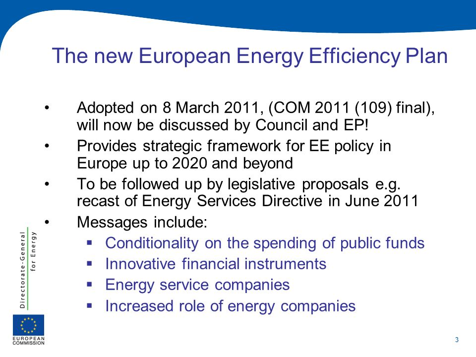 14 Recast EPBD and NZEB EE first, then RES (Recital 15:alternative supply systems should be considered for new buildings (…) first ensuring that energy needs for heating and cooling are reduced ) At national level (example DK): building requirements at the moment include only EE options, standards for 2015 phase in solar thermal, long term objectives for 2020 add PV.