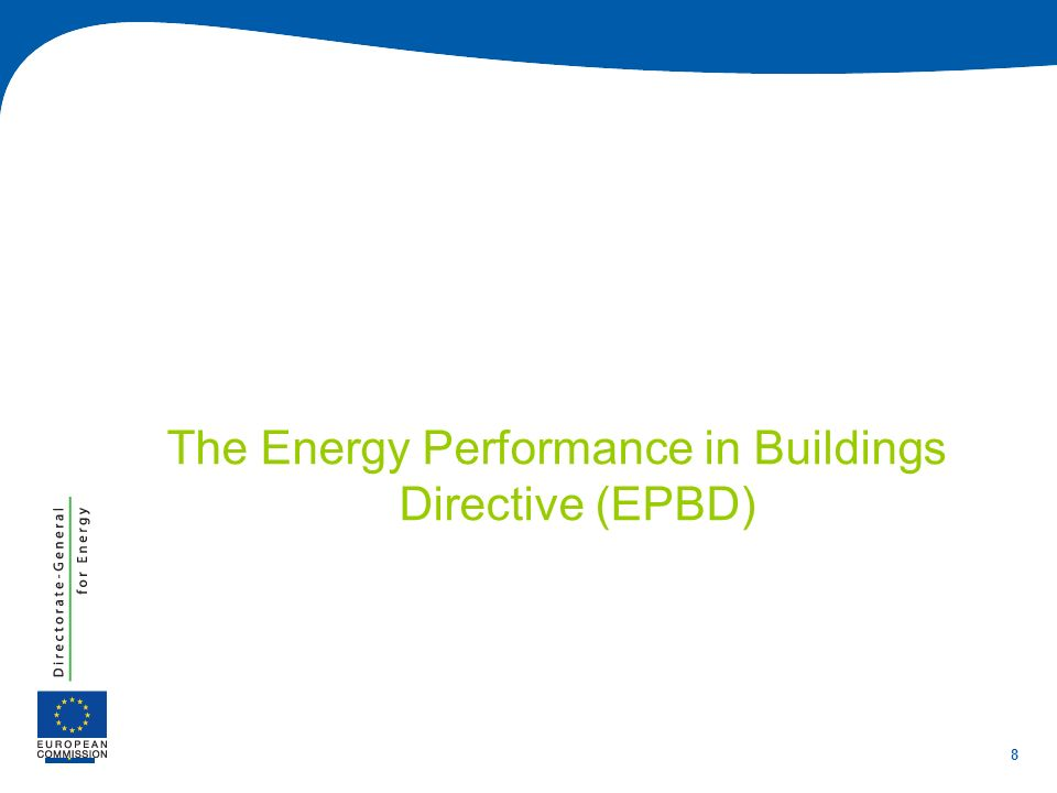 8 The Energy Performance in Buildings Directive (EPBD)