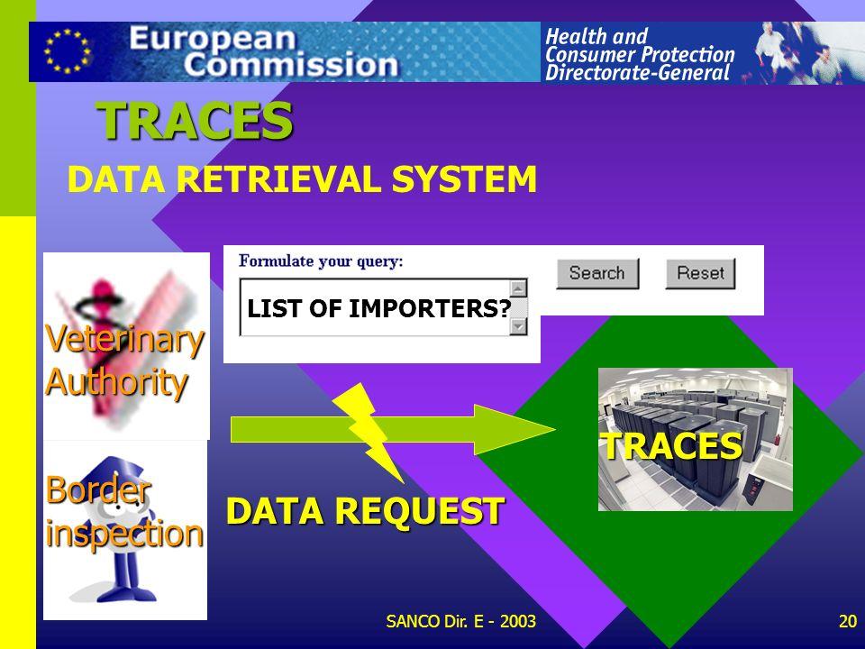 SANCO Dir. E - 200319 SEARCH ENGINE TRACES TRACES