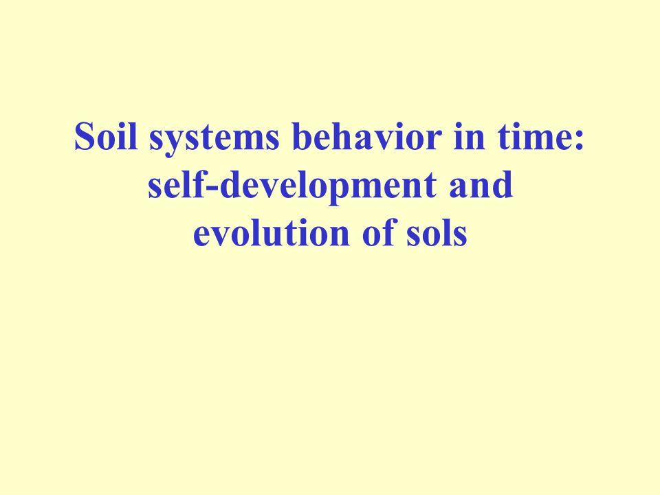 Soil systems behavior in time: self-development and evolution of sols