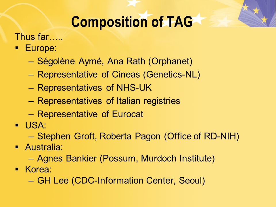 Composition of TAG Thus far…..