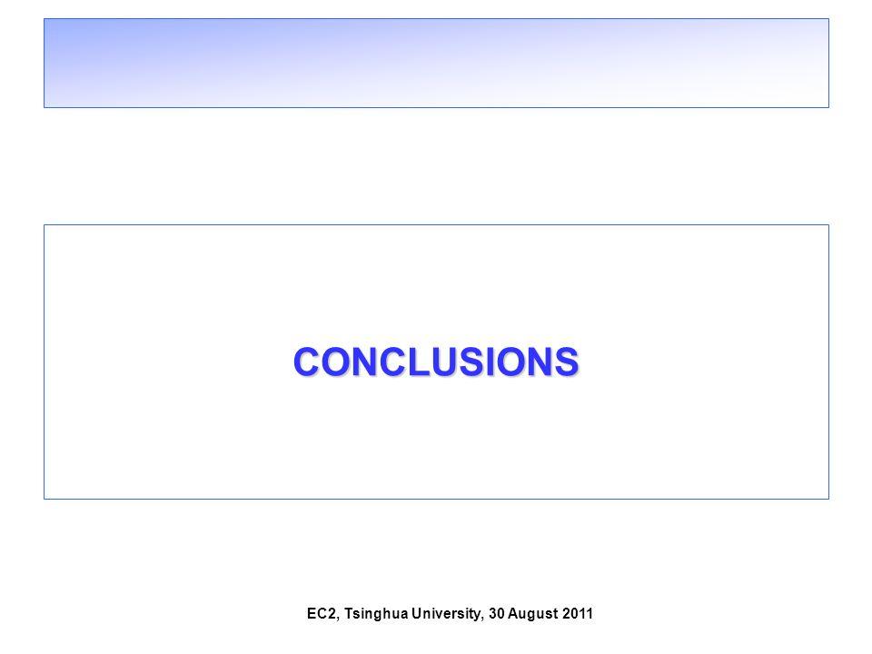 EC2, Tsinghua University, 30 August 2011 CONCLUSIONS
