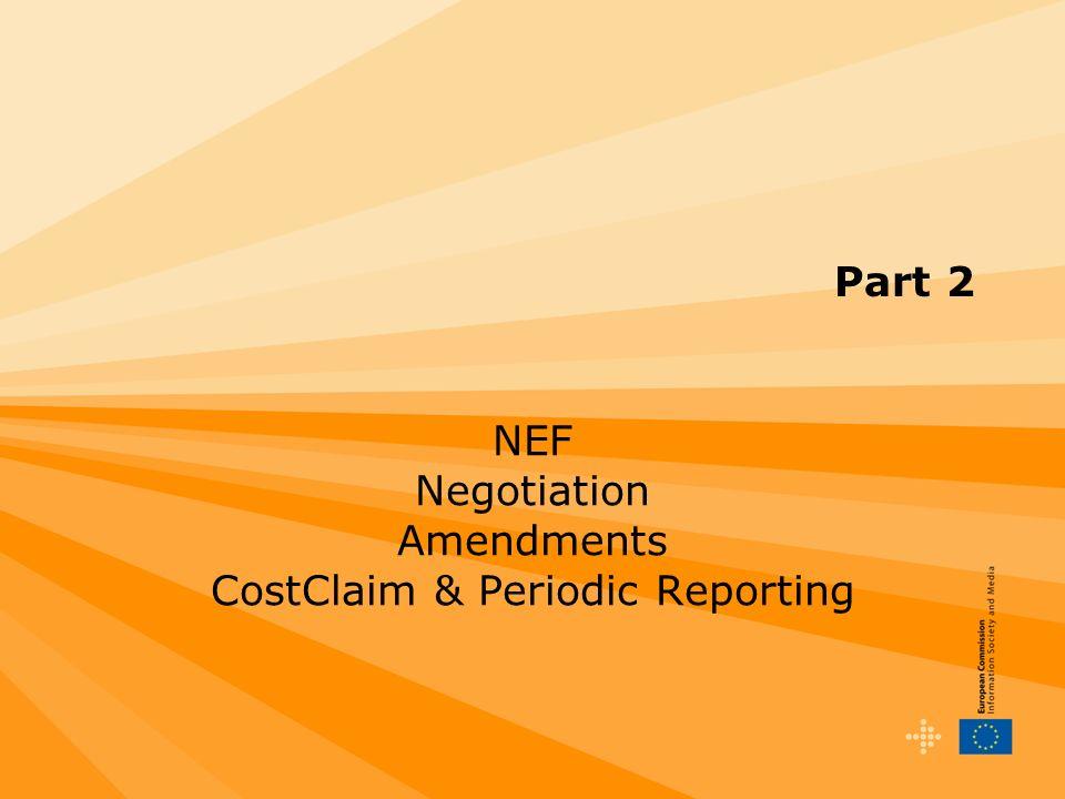 Part 2 NEF Negotiation Amendments CostClaim & Periodic Reporting