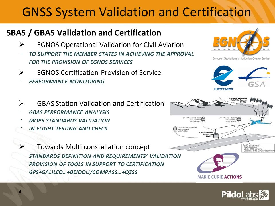 SBAS / GBAS Validation and Certification EGNOS Operational Validation for Civil Aviation –TO SUPPORT THE MEMBER STATES IN ACHIEVING THE APPROVAL FOR T
