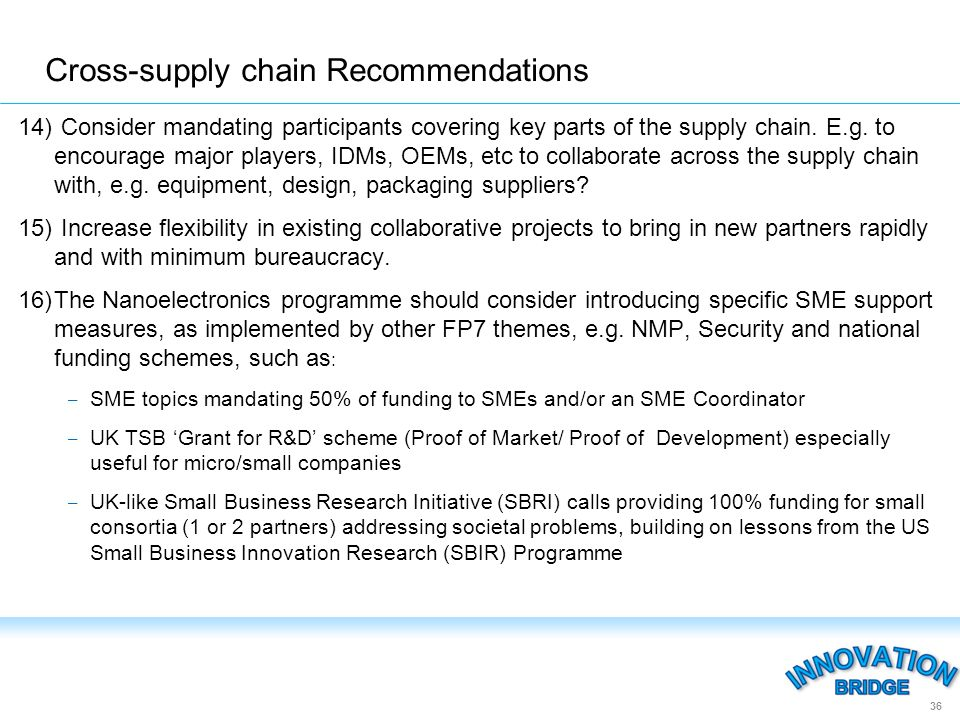 14) Consider mandating participants covering key parts of the supply chain.