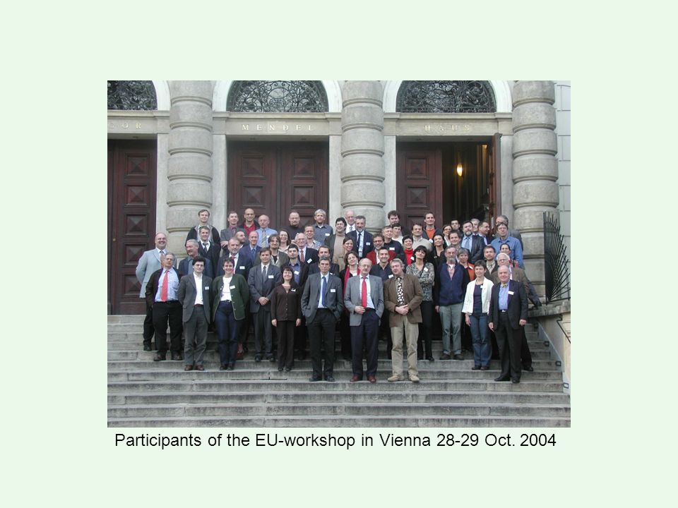 Participants of the EU-workshop in Vienna 28-29 Oct. 2004