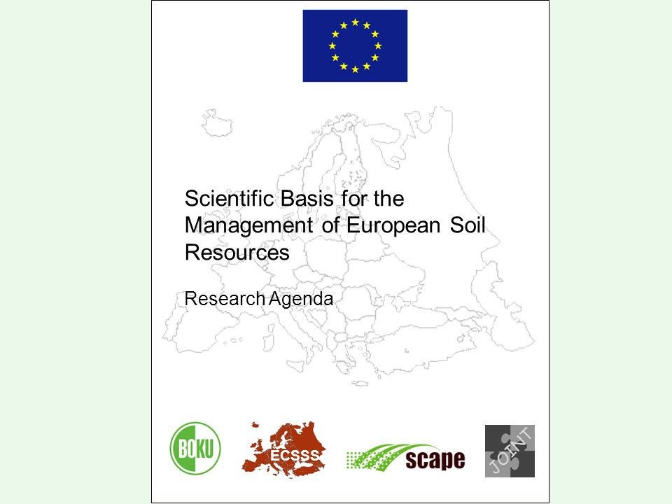 Scientific Basis for the Management of European Soil Resources Research Agenda ECSSS