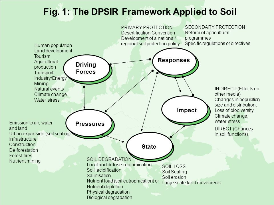 SOIL DEGRADATION Local and diffuse contamination Soil acidification Salinisation Nutrient load (soil eutrophication) or Nutrient depletion Physical de